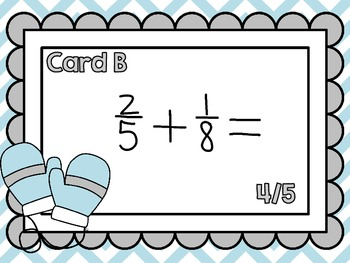 Adding and Subtracting Fractions with Unlike Denominators-Looping Scavenger Hunt