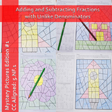 Adding and Subtracting Fractions with Unlike Denominators Puzzle Worksheets