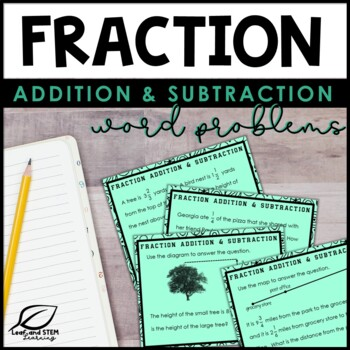 Adding and Subtracting Fractions with Unlike Denominators Task Cards
