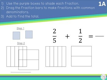 Adding and Subtracting Fractions with Unlike Denominators for Distance Learning