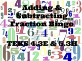 Adding and Subtracting Fractions (with like denominators)