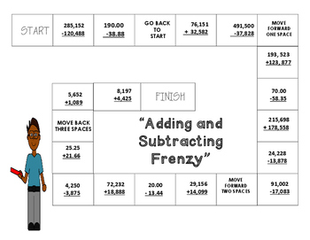 Adding and Subtracting Game