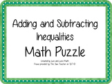 Adding and Subtracting Inequalities Math Puzzle