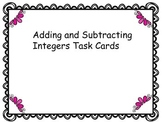 Adding and Subtracting Integer Task Cards