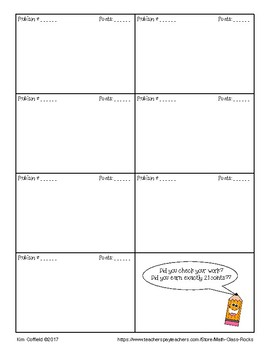 """ADDING AND SUBTRACTING INTEGERS """"21"""" FREEBIE!"""