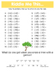 Spring Adding and Subtracting Integers Math Riddles