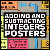 Adding and Subtracting Integers Posters - Math Classroom Decor