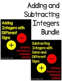 Adding and Subtracting Integers Bundle