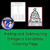 Adding and Subtracting Integers Christmas Coloring Page