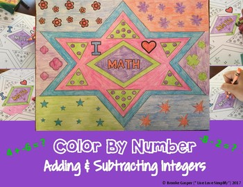 Adding and Subtracting Integers - Color By Number