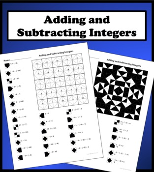 Adding and Subtracting Inte by Aric Thomas  Teachers Pay Teachers