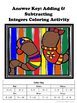 Adding and Subtracting Integers Coloring Activity