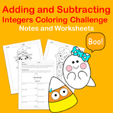 Adding and Subtracting Integers Coloring Challenge: Hallow