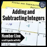 Adding and Subtracting Integers Cut and Paste Activity