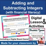 Adding and Subtracting Integers   Digital Lesson   Digital Math Center