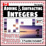Adding and Subtracting Integers Digital Puzzles for Google Slides