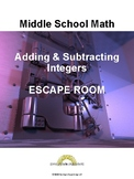 Adding and Subtracting Integers ESCAPE Room