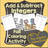 Adding and Subtracting Integers Coloring {Integers Activit