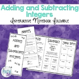 Adding and Subtracting Integers Foldable
