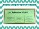 Integer Foldables for Add, Subtract, Multiply, and Divide