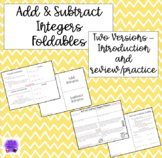 Adding and Subtracting Integers Foldables