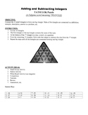 Adding and Subtracting Integers Game Puzzle with Worksheet