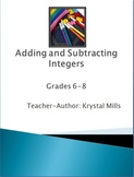 Adding and Subtracting Integers Games, Activities, Worksheets and Quiz