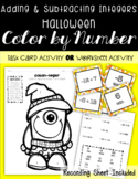 Adding and Subtracting Integers HALLOWEEN Color by Number