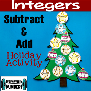 Adding and Subtracting Integers Holiday Christmas Tree Activity