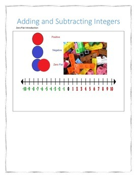 Adding and Subtracting Integers Introduction