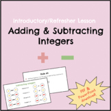 Adding and Subtracting Integers Introductory/Refresher Lesson