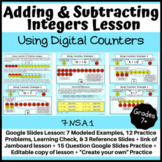 Adding and Subtracting Integers Lesson: Digital Counters - Distance Learning