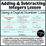Adding and Subtracting Integers Lesson: Digital Number Line- Distance Learning