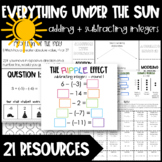 Adding and Subtracting Integers Lesson - Modeling, Computing + More