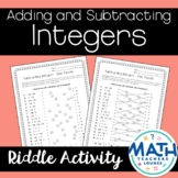 Adding and Subtracting Integers: Line Puzzle Activity