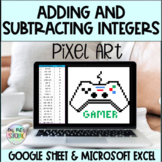 Adding and Subtracting Integers Mystery Pixel Art-Microsof