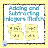 Adding and Subtracting Integers Matching Activity