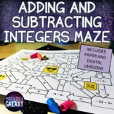 Adding Integers Activity - Maze (Distance Learning)