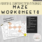 Adding and Subtracting Integers: Maze