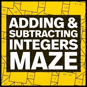 Adding and Subtracting Integers Maze + Bonus Mini Maze