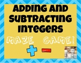 Adding and Subtracting Integers Maze Game