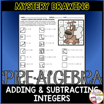 Adding and Subtracting Integers Mystery Drawing