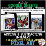 Google Sheets Digital Pixel Art Math Adding and Subtracting Integers
