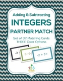Adding and Subtracting Integers Partner Matching Cards
