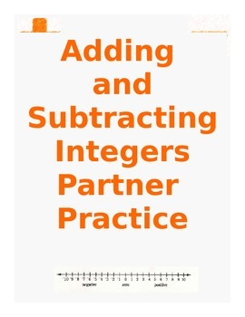 Adding and Subtracting Integers Partner Practice