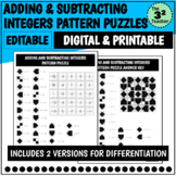 Adding and Subtracting Integers Pattern Puzzles   Distance