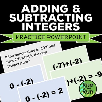 Adding and Subtracting Integers - Powerpoint of 25 problems