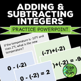 Adding and Subtracting Integers Powerpoint