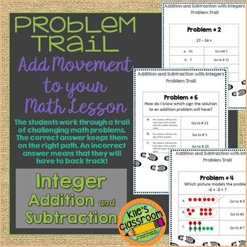 Adding and Subtracting Integers Problem Trail - Add Movement to Math
