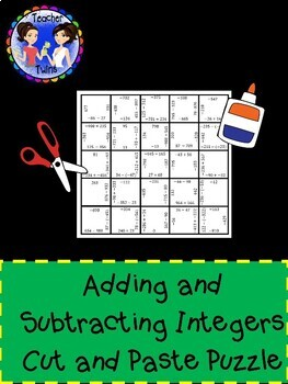 Adding and Subtracting Integers Puzzle